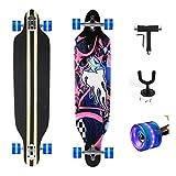 Feldus 41' Longboard DROP THROUGH Skateboard Komplettboard Belastbar bis 100kg mit T-Tool und...