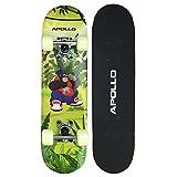 Apollo Skateboard, Kleines Komplett Board mit ABEC 3 Kugellager, Aluminium Achsen, Verschiedene...