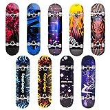 Unibest Skateboard Deck Funboard Holzboard komplett 80x20cm Ahornholz