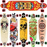 [Maronad.GCP] Longboard Skateboard drop through Race Cruiser ABEC-11 Skateboard 104x24cm...
