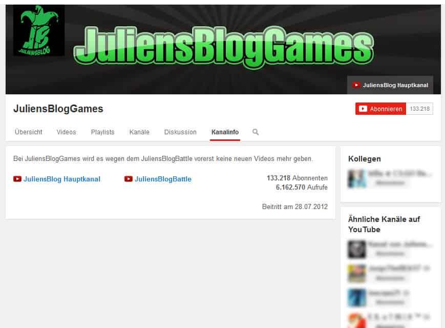 Geld verdienen mit Youtube JuliensBlogGames