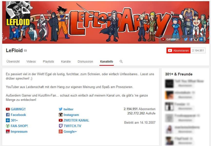 geld verdienen mit Youtube LeFloid