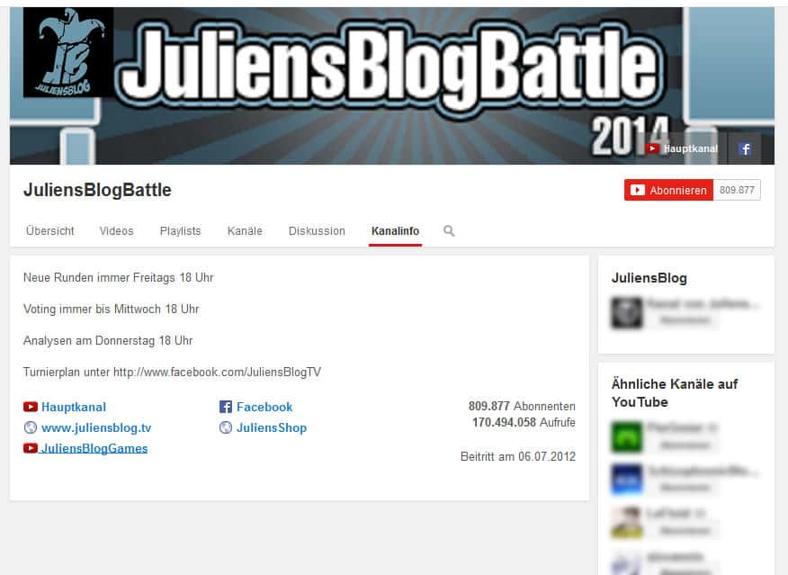 Mit YouTube Geld machen JuliensBlogBattle
