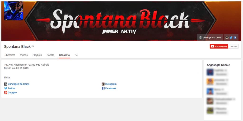spontanablack youtube einnahmen