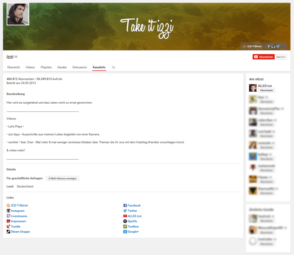 youtube einnahmen izzi