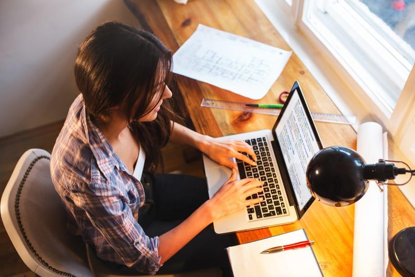 bloggerin harte arbeit