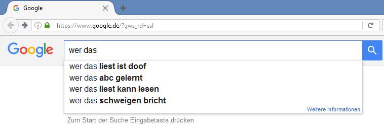 Keywords finden mit den automatischen suchvorschlägen