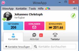 WowApp Verdienst Netzwerk