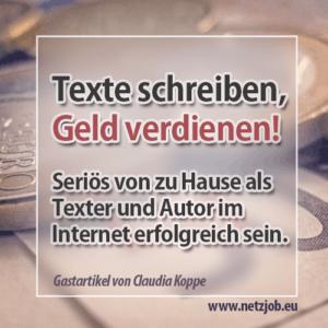 mit texten im internet geld verdienen