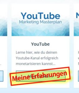 Meine YouTube Marketing Masterplan Erfahrungen