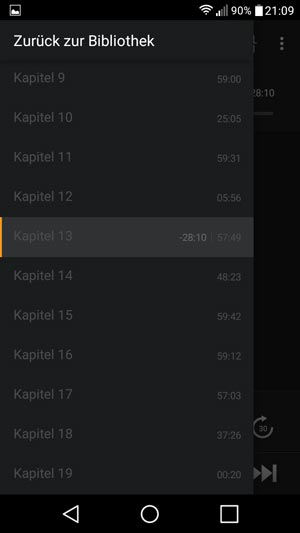 audible app kapitel