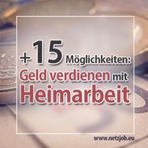Heimarbeit: Geld verdienen mit diesen 16 Möglichkeiten