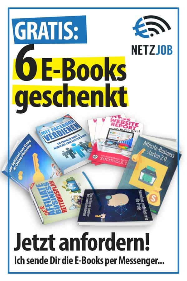 Ich schenke Dir 6 Online-Marketing eBooks