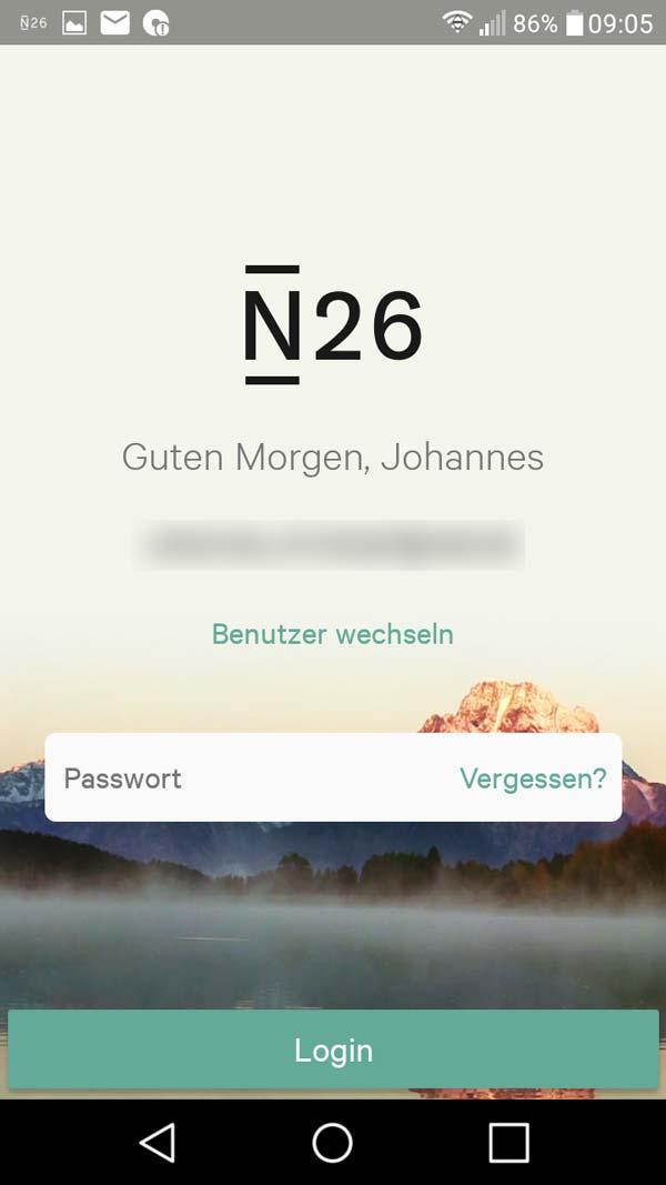 N26 Geschäftskonto App