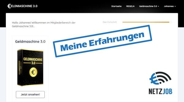 Screenshot Geldmaschine 3.0 Erfahrungen