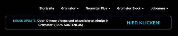 Screenshot Gramstar Update Juni 2020