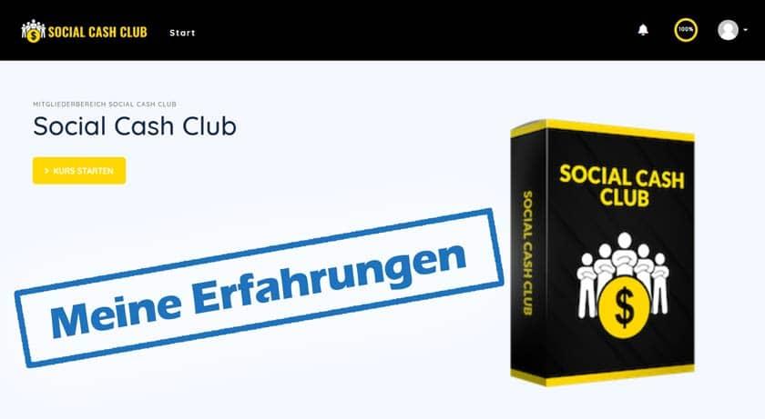 Screenshot zu meinen Social Cash Club Erfahrungen