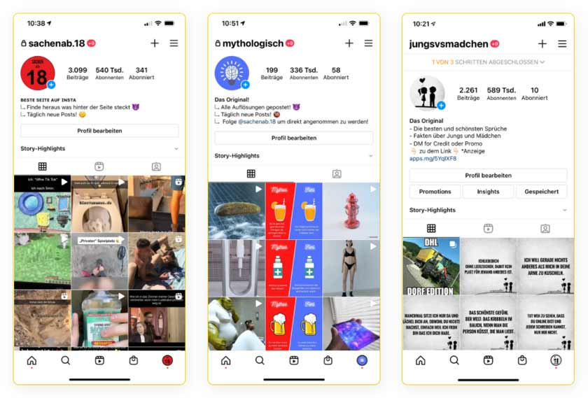 Social Cash Club Instagram Referenzen der Kursersteller