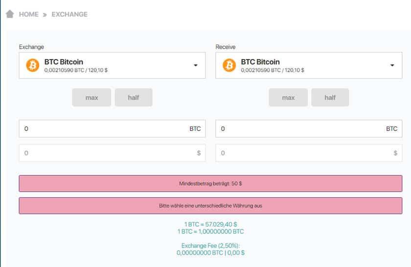 privafund coinswap exchange