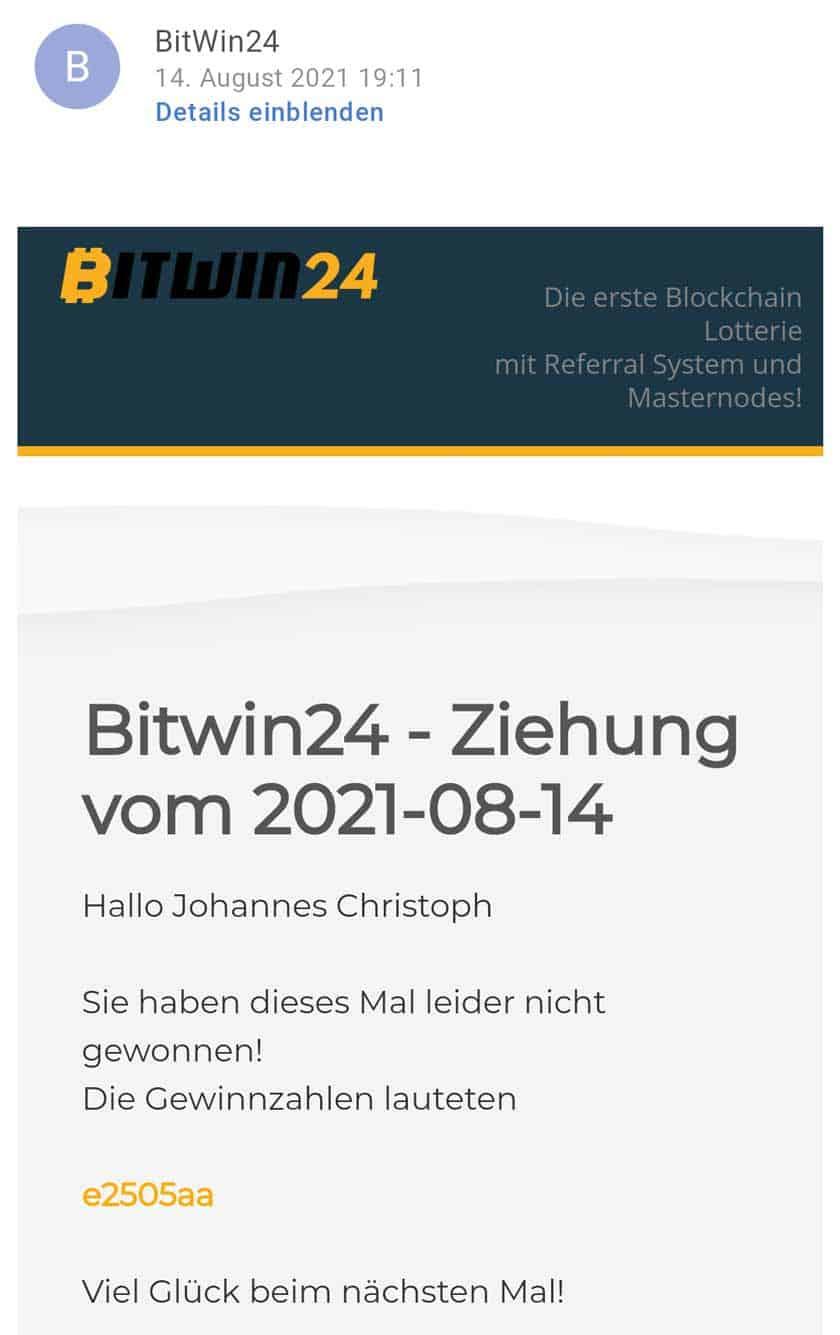 Bitwin24 Gewinnzahlen
