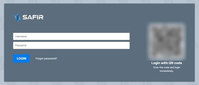 Screenshot einloggen nach Registierung bei Safir / ZENIQ Coin