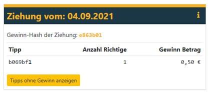 Mein Bitwin24 Gewinn
