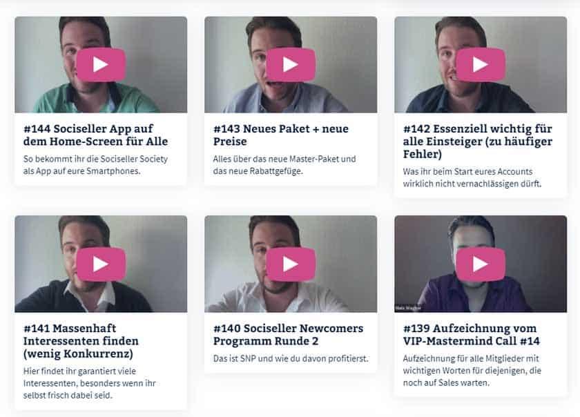 Screenshot Sociseller Society Vlog